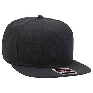 OTTO Heather Wool Blend Twill Square Flat Visor