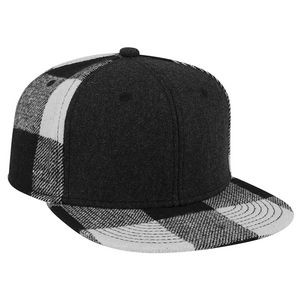 OTTO Melton Wool Blend Flannel Square Flat Visor
